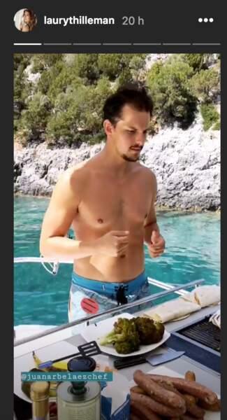 Juan Arbelaez, le chef chéri de Laury Thilleman, lui prépare à manger en Grèce avec des produits locaux