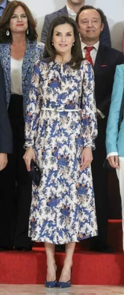 Avec ce look, la reine Letizia d'Espagne avait un petit air de Kate Middleton