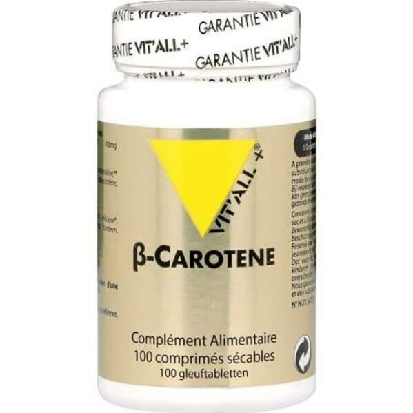 Vitall+ bêta-carotène 8000 UI - 100 comprimés, 15,90€