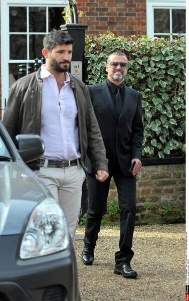 2012: George avec son nouveau compagnon, l'Australien Fadi Fawaz, coiffeur de stars.