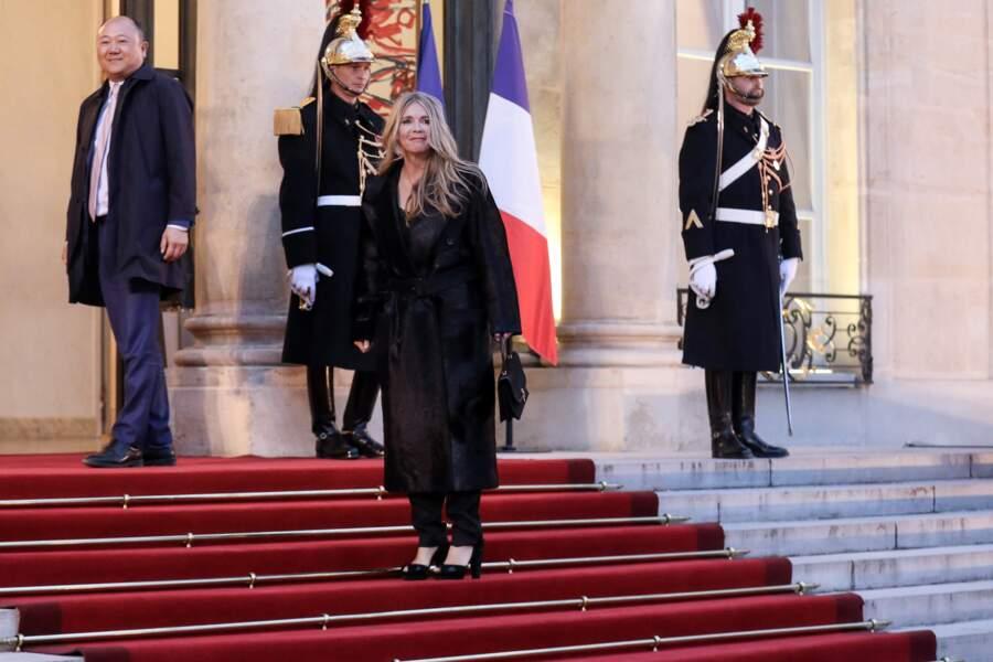 La chanteuse et actrice Hélène Rollès était elle aussi conviée à l'Élysée pour ce dîner d'État