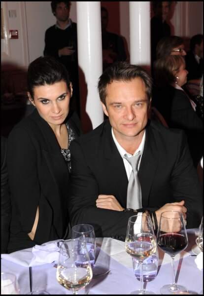 David Hallyday et sa femme Alexandra Pastor au dîner de gala de la mode contre le sida