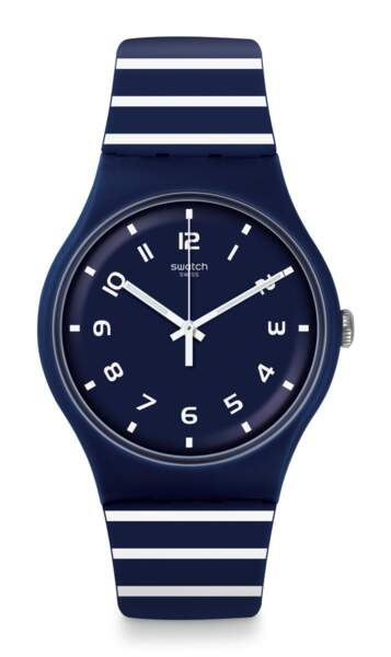 Striure, Montre Swatch, 70 € (swatch.com)
