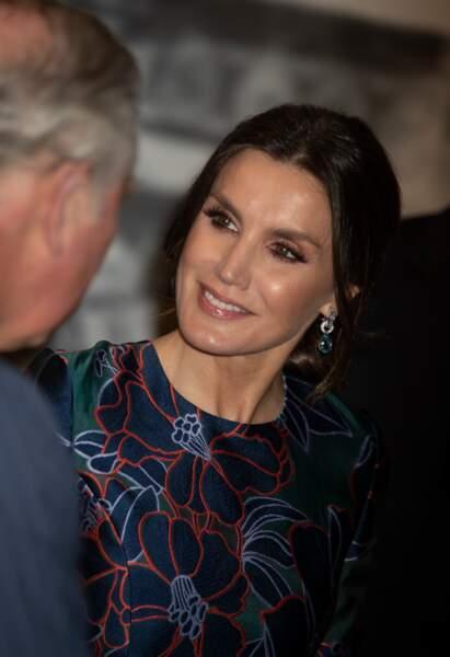 La reine Letizia d'Espagne a semble-t-il passé un agréable moment en compagnie du prince Charles