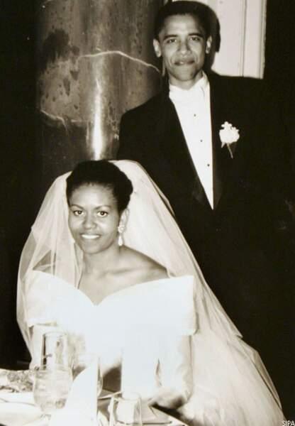 Barack et Michelle le jour de leur mariage, Chicago, le 18 octobre 2012