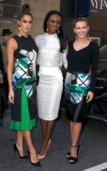 Iris présente ses amies et colocataires, Deshauna Barber, Miss USA 2016 et Karlie Hay, Miss Teen USA 2016