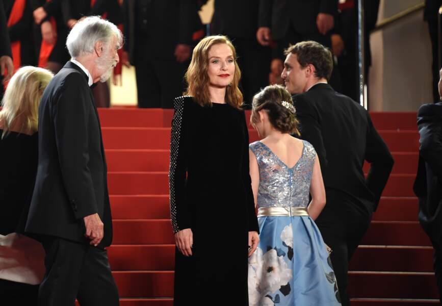 Isabelle Huppert en robe Dior