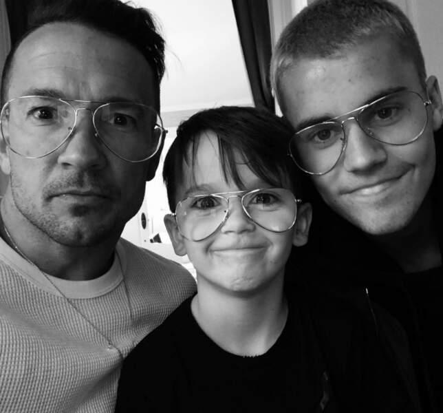 Le pasteur Carl Lentz, son fils et Justin Bieber