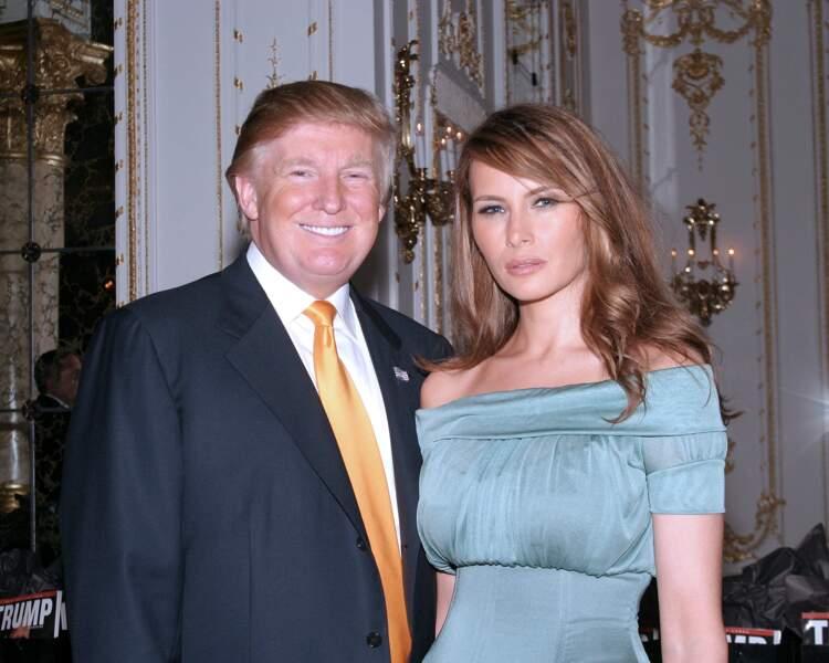 Melania et Donald Trump au club Mar A Lago à Palm Beach, le 3 mars 2007