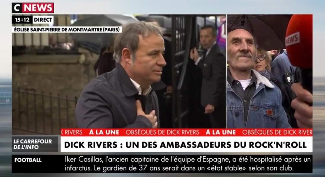 Fabien Lecoeuvre aux obsèques de Dick Rivers