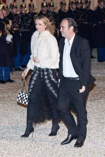 Delphine Arnault et son compagnon Xavier Niel