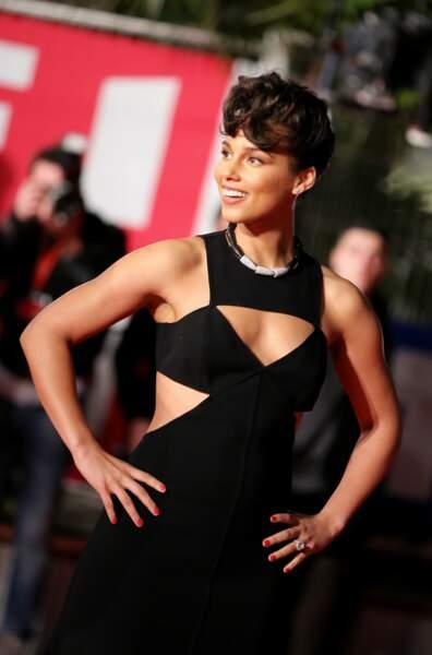 Alicia Keys à son arrivée à la cérémonie des NRJ Music Awards à Cannes le 26 Janvier 2013