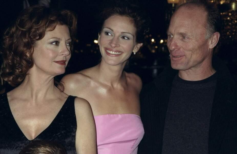 """Avec Susan Sarandon et Ed Harris à la première de """"Ma Meilleure Ennemie"""" à New York en 1998"""