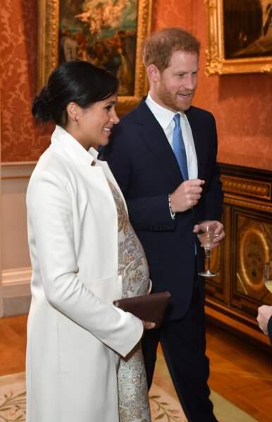 Le prince Harry et Meghan Markle lors de 50 ans de l'investiture du prince de Galles