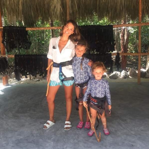 Les enfants de Jessica Alba sont des sportifs : ils profitent de leur maman pour faire de l'accrobranche