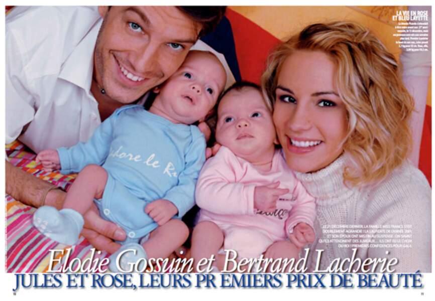 Jules et Rose, les deux amours d'Elodie et Bertrand nés en décembre 2007