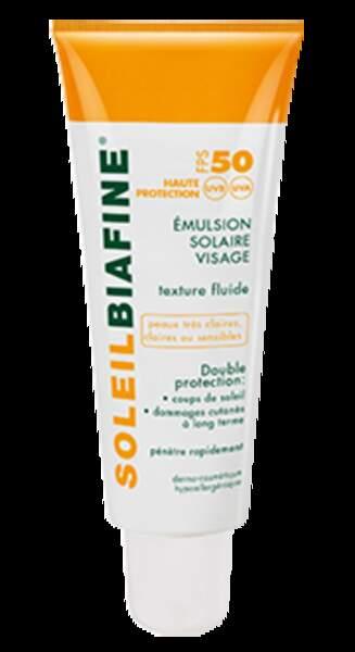 Émulsion solaire visage, FPS 30 et 50, Cicabiafine, 50 ml à partir de 11,63 €
