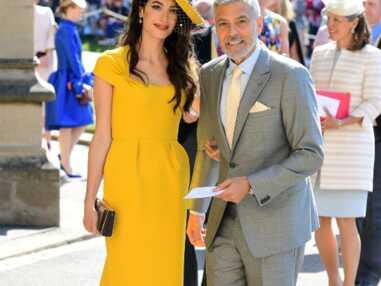 PHOTOS - Amal et George Clooney : le couple très glamour du mariage de Meghan et Harry