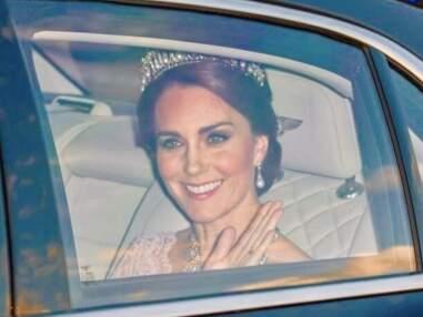 Kate Middleton porte les bijoux de Diana et d'Elizabeth ii