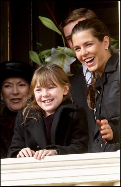 Alexandra de Hanovre et Charlotte Casiraghi lors de la fête monégasque le 19 novembre 2009