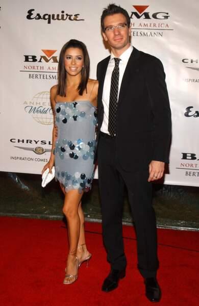 Eva Longoria et le chanteur JC Chasez