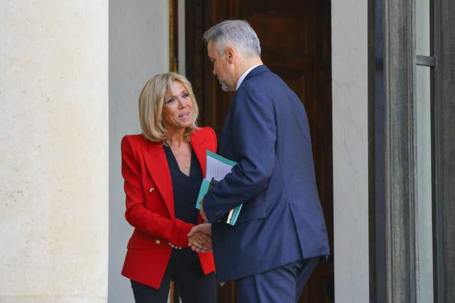 Brigitte Macron à l'Elysée le 6 juillet