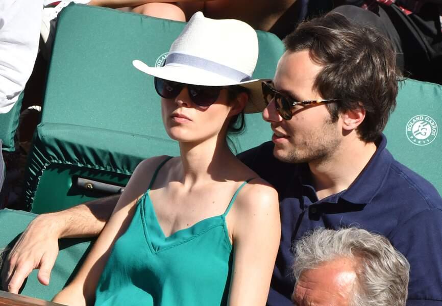 Vianney et sa compagne lors de la finale dames de Roland Garros à Paris le 10 juin 2017.