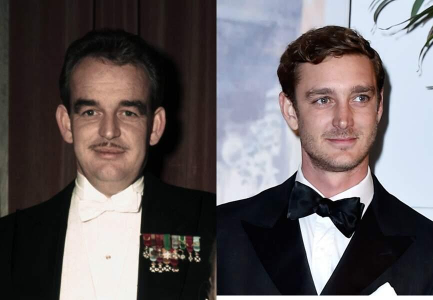 A côté de son grand-père le prince Rainier, Pierre Casiraghi ne peut pas renier ses origines