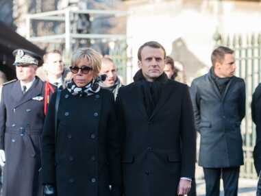 Le look ultra sobre de Brigitte Macron à la cérémonie d'adieu à Johnny Hallyday