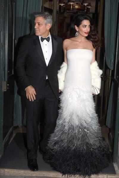 George Clooney et son épouse Amal