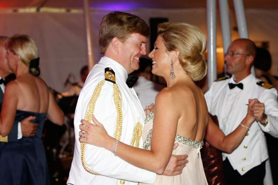 Willem-Alexander et Maxima des Pays Bas dansant lors d'un dîner à New York en 2009