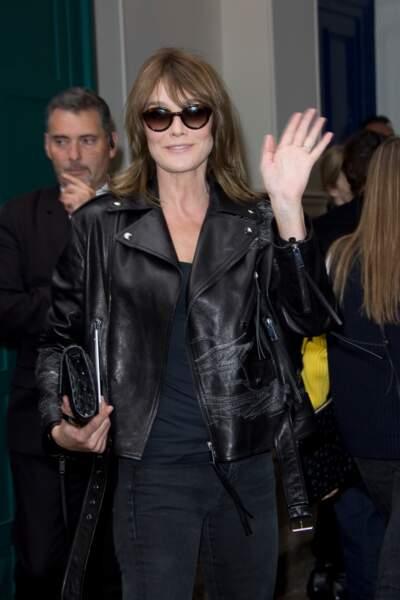 Carla Bruni-Sarkozy, l'ancienne mannequin toujours aussi classe
