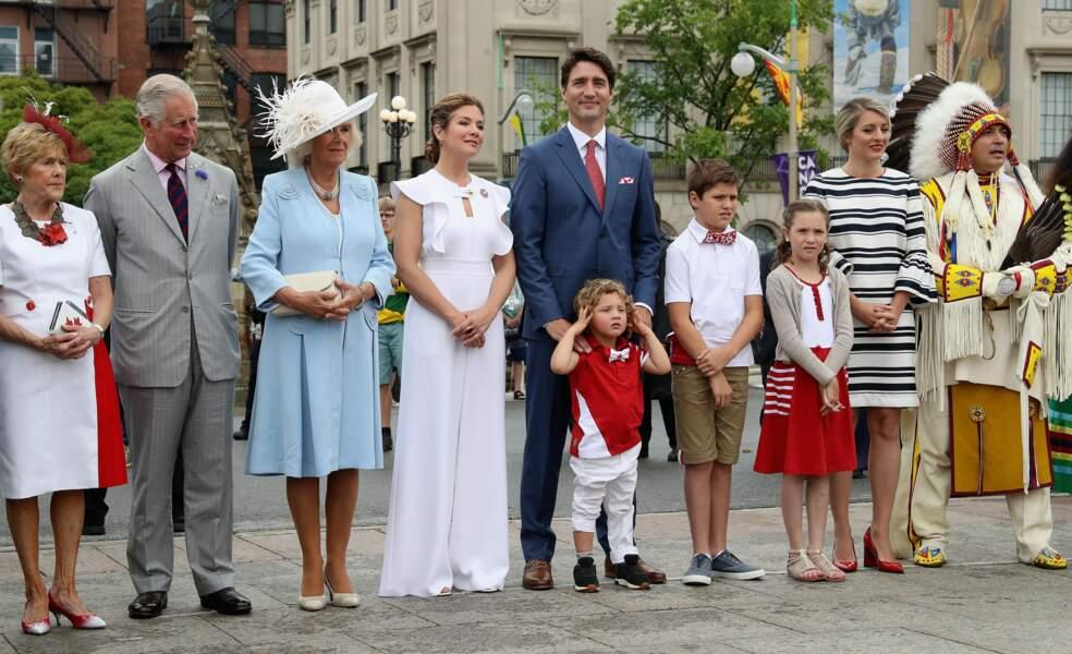Hadrien Trudeau habillé aux couleurs du Canada pour célébrer les 150 ans de son pays