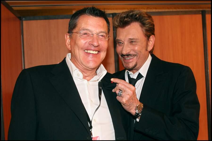 Jean-Claude Camus et Johnny Hallyday aux NRJ Music Awards à Cannes en 2008
