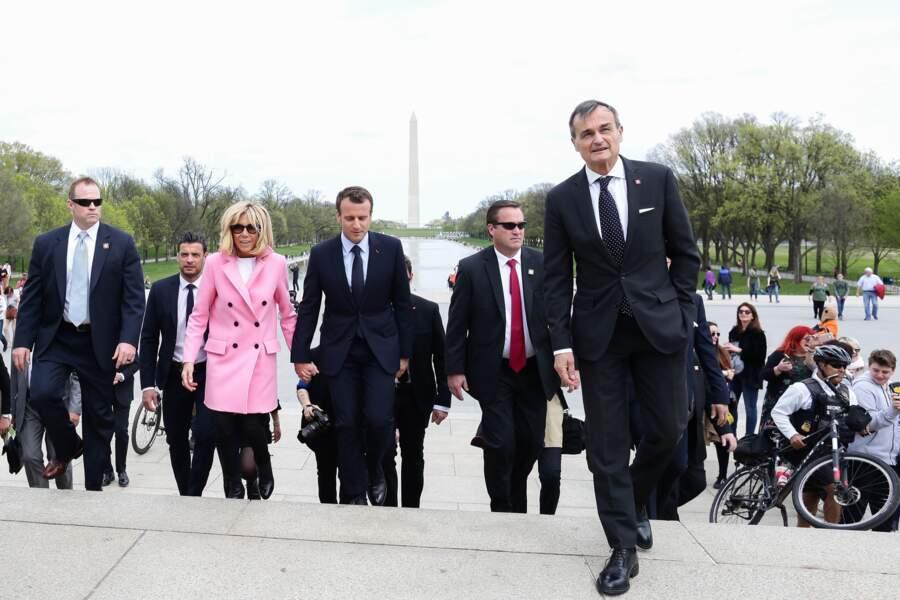 Le président et son épouse Brigitte Macron ont rendu visite à Donald Trump à Washington