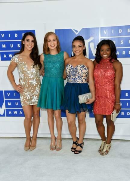 Les athlètes américaines médaillées d'or Aly Raisman, Madison Kocian, Laurie Hernandez et Simone Biles