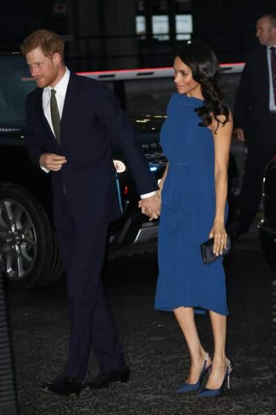 Meghan Markle et le prince Harry arrivent pour assister à un concert de charité à Londres le jeudi 6 septembre.