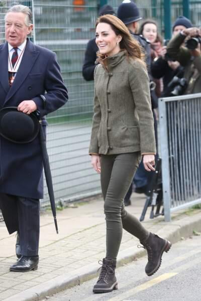 Kate Middleton arrivant à la King Henry's Walk, dans le quartier londonien d'Islington, le 15 janvier 2019
