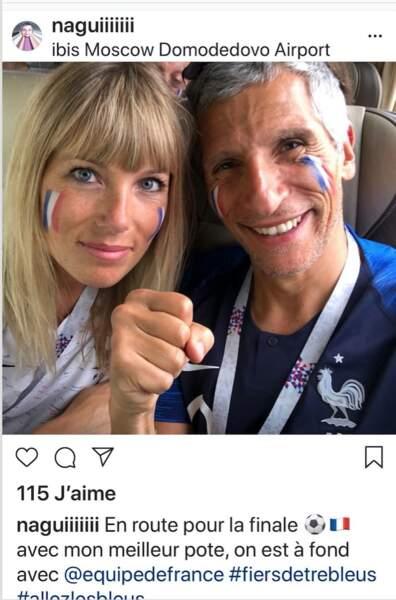 Nagui et sa femme Mélanie sont sans doute les meilleurs supporteurs de l'équipe de France.