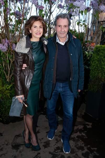 Jean-Jacques Bourdin et sa femme Anne Nivat