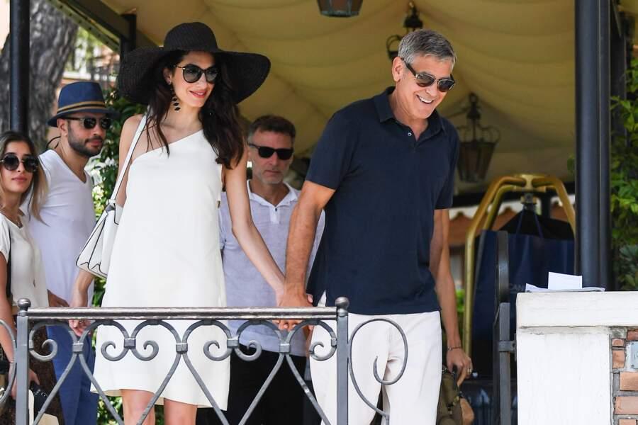 Amal et George Clooney sont apparus très complices lors de cette journée
