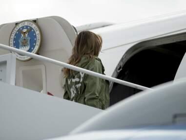 PHOTOS -Melania Trump et sa veste au mystérieux message