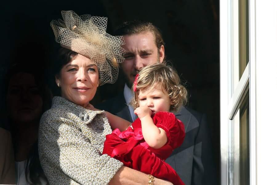 Caroline de Hanovre, India et Pierre Casiraghi lors de la fête monégasque le 19 novembre 2016