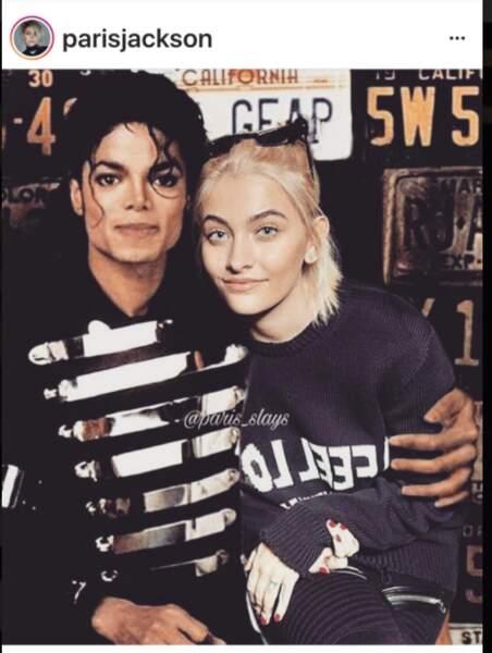 Paris Jackson, en photo montage aux côtés de son papa Michael Jackson