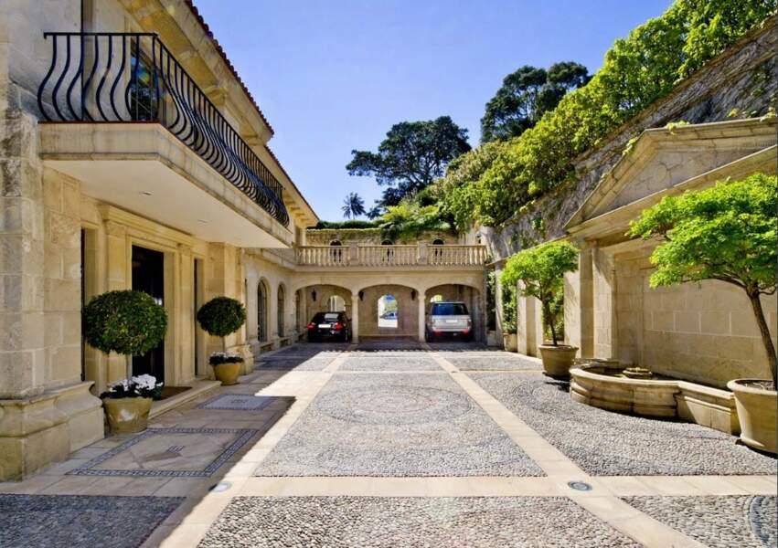 La cour intérieure de la maison de Meghan Markle et du prince Harry en Australie