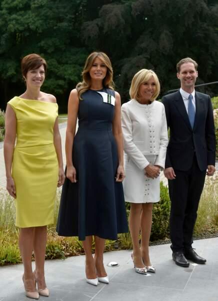 Brigitte Macron et Melania Trump réunies en Belgique, le 11 juillet 2018