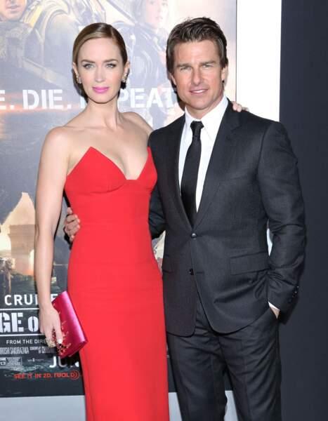 Tom Cruise et Emily Blunt pour Edge of tomorrow en 2014