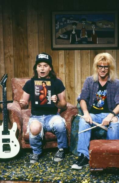 Le film Wayne's World est né dans SNL d'un sketch entre Mike Myers et Dana Carvey