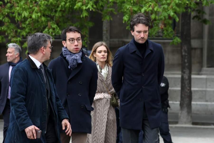 Natalia Vodianova et Antoine Arnault sont venus constater les dégâts de l'incendie de Notre-Dame de Paris