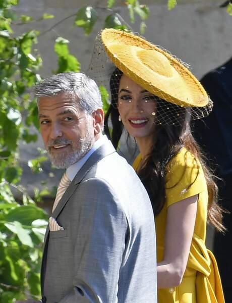 Amal Clooney et George Clooney tout sourires
